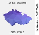 czech republic map in geometric ... | Shutterstock .eps vector #502979428