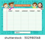 school plan schedule template... | Shutterstock .eps vector #502980568
