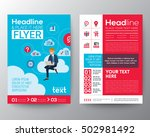 business brochure flyer design... | Shutterstock .eps vector #502981492