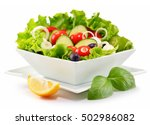 Vegetable Salad Bowl Isolated...
