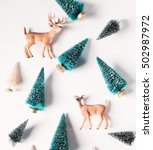 Christmas Trees And Deer From...