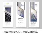 roll up banner stands  abstract ... | Shutterstock .eps vector #502988506