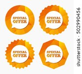 special offer sign icon. sale... | Shutterstock .eps vector #502990456