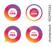 made in the usa icon. export... | Shutterstock .eps vector #502995262