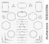 a large set of frames ... | Shutterstock .eps vector #503010586