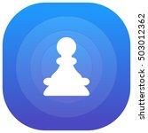 chess pawn purple   blue...