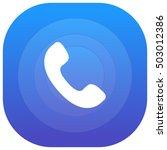 phone purple   blue circular ui ...
