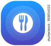 cutlery purple   blue circular...