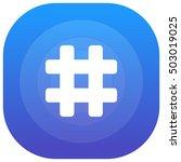 hashtag purple   blue circular...