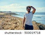 handsome and confident. outdoor ... | Shutterstock . vector #503019718