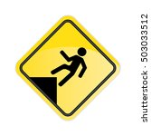 caution watch your step sign. | Shutterstock . vector #503033512