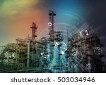 modern manufacturing industry... | Shutterstock . vector #503034946