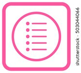 items pink vector icon. image...