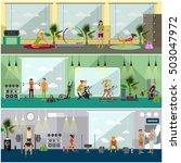 fitness center interior vector... | Shutterstock .eps vector #503047972