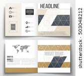 set of square design brochure... | Shutterstock .eps vector #503048212