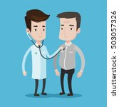 young caucasian doctor...   Shutterstock .eps vector #503057326