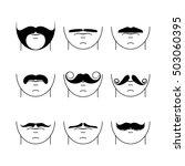 big set of vector hipster... | Shutterstock .eps vector #503060395