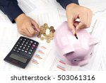 save money  manage money  save | Shutterstock . vector #503061316