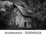 Farm Barn Black   White