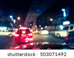 Blurred Traffic Jam On Rush...