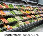Small photo of Idaho Falls, Idaho, USA, 28 June, 2016 The produce section in an interior image of a modern grocery store.