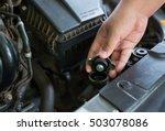 hand open valve metal cover on ... | Shutterstock . vector #503078086