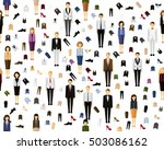 vector flat seamless texture... | Shutterstock .eps vector #503086162