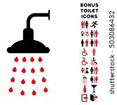 shower icon and bonus male and... | Shutterstock . vector #503086432