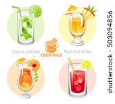 fresh fruit drink bar logo... | Shutterstock .eps vector #503094856