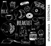 food continental breakfast.... | Shutterstock .eps vector #503096266