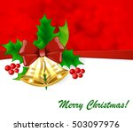 christmas background with holly ... | Shutterstock .eps vector #503097976