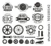 set of vintage bike shop badges ... | Shutterstock .eps vector #503100142