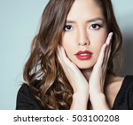 portrait of beautiful young... | Shutterstock . vector #503100208