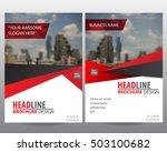 red modern elegance annual...   Shutterstock .eps vector #503100682
