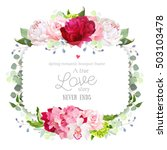 square floral vector frame with ... | Shutterstock .eps vector #503103478