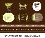 vector soy free sign set | Shutterstock .eps vector #503108626