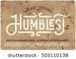 vintage grunge font with dirty... | Shutterstock .eps vector #503110138