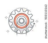 color line  energy  cog concept ... | Shutterstock .eps vector #503110162