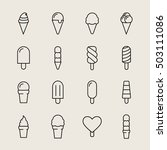collection of 16 vector ice... | Shutterstock .eps vector #503111086