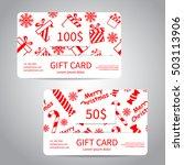 merry christmas gift card or...   Shutterstock .eps vector #503113906