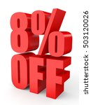 discount 8 percent off. 3d... | Shutterstock . vector #503120026