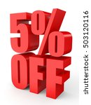 discount 5 percent off. 3d... | Shutterstock . vector #503120116
