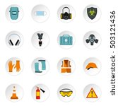 individual protection icons set....   Shutterstock .eps vector #503121436