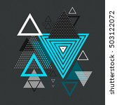 abstract hipster polygon... | Shutterstock .eps vector #503122072