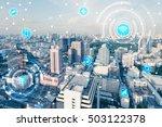 blue high tech tone of... | Shutterstock . vector #503122378
