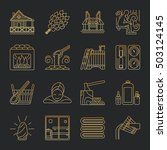modern vector line icons with... | Shutterstock .eps vector #503124145