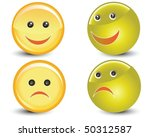 smiling and sad balls vector | Shutterstock .eps vector #50312587