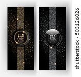 gold and silver vip cards with... | Shutterstock .eps vector #503126026