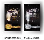 grand opening gold and silver... | Shutterstock .eps vector #503126086