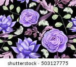 seamless tropical flower  plant ... | Shutterstock . vector #503127775